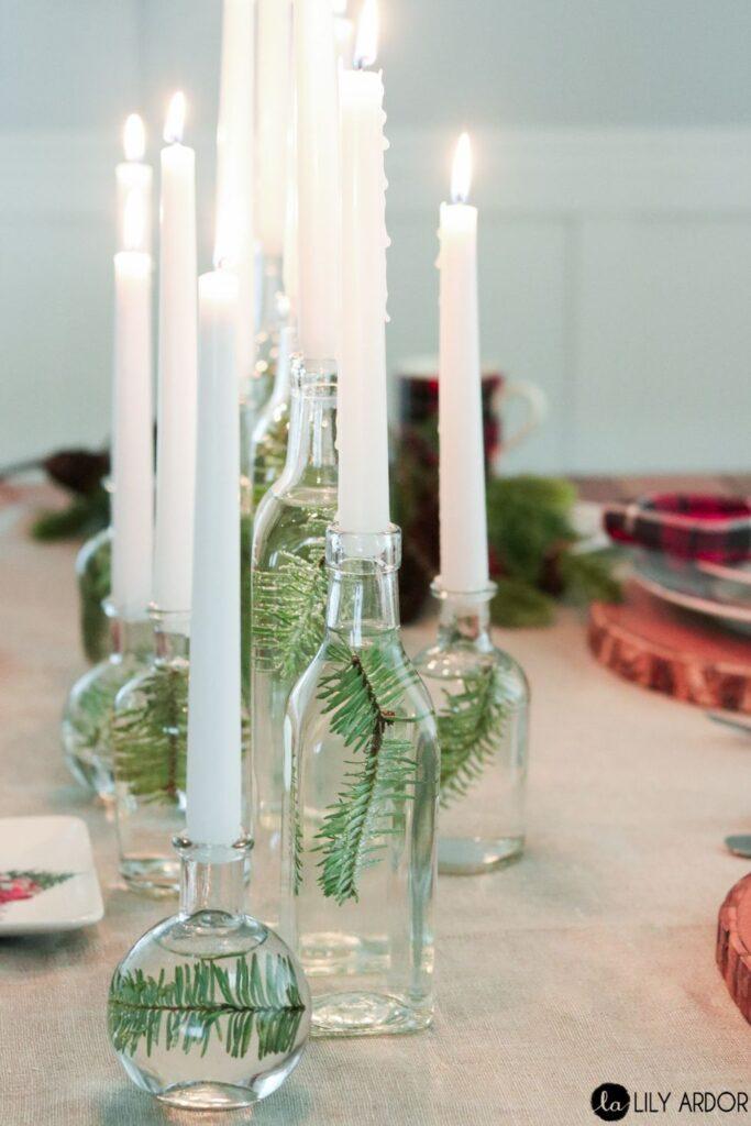 bourgeois pour bouteille recyclée pour décoration de table