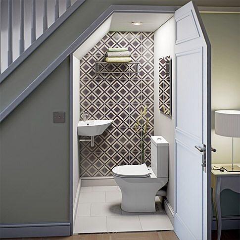 espace toilette sous escalier